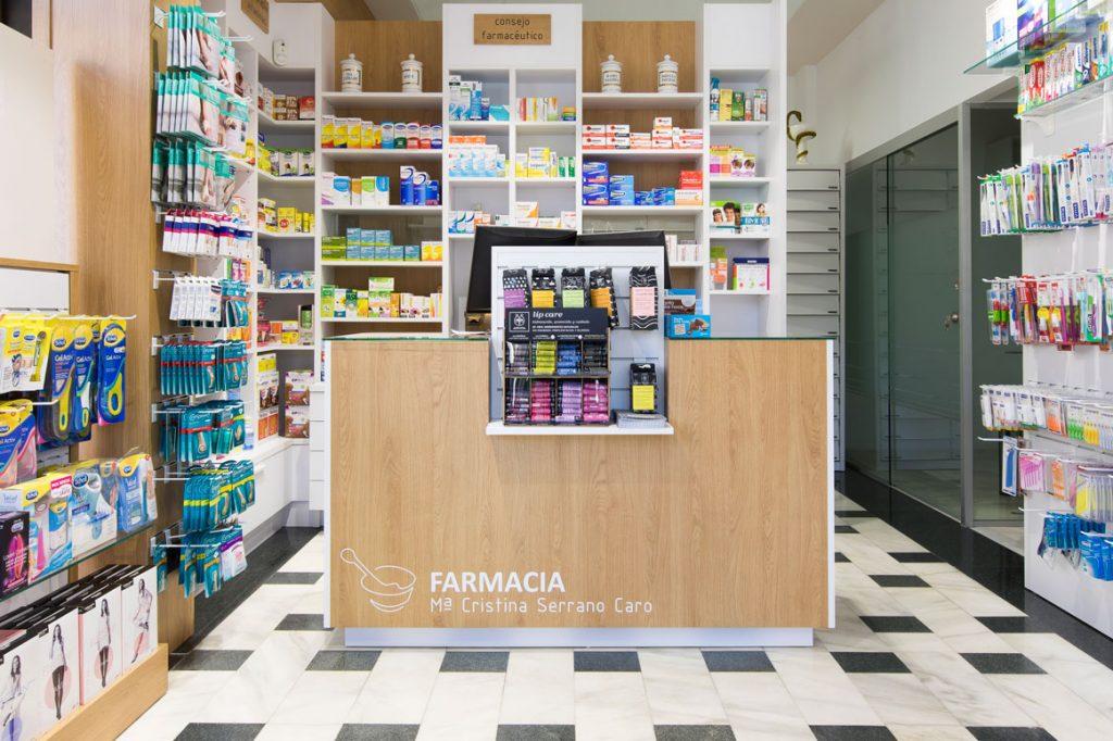 Diseño y mobiliario de farmacia
