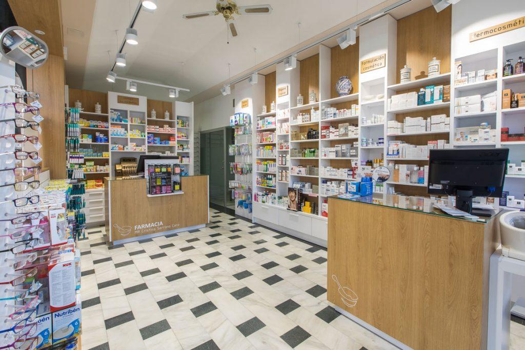 Diseño de mobiliario de farmacia