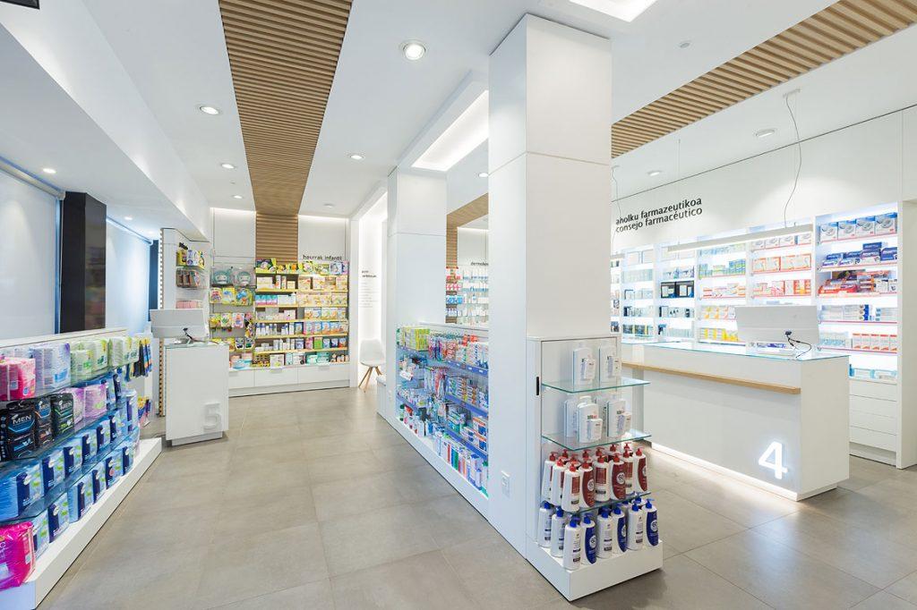 Farmacia rivera reforma dise o y mobiliario de farmacias for Muebles llodio